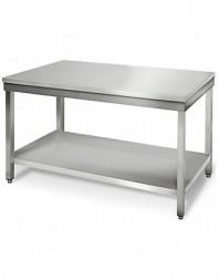 Table de travail centrale inox - 700 x 700 x 850 mm