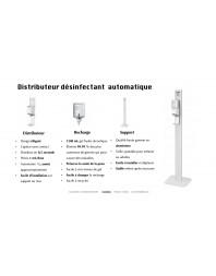 Distributeur de gel hydroalcoolique aloe vera sur colonne + 6 recharges de gel