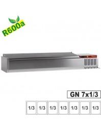 Vitrine à ingrédients - 7 x GN 1/3-150 mm avec couvercle inox
