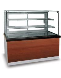 Comptoir réfrigéré positive avec pare-haleine et 2 étagères - 0°/+8°C