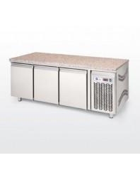 Tour pâtissier réfrigéré avec granit - 2 portes 600 x 400 - LUFRI