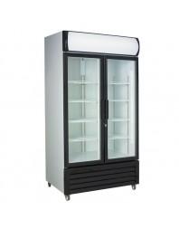 Armoire réfrigérée positive +1/+10°C - 2 portes vitrées battantes - 670 litres
