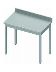 Table inox adossée sans étagère - Prof 600 - Dimensions de 400 à 1400 mm
