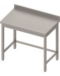 Table inox professionnelle adossée sans étagère - Prof 700 - Dimensions de 400 à 1900 mm