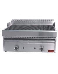 Grill-vapeur gaz avec grille de cuisson en fonte -Top-