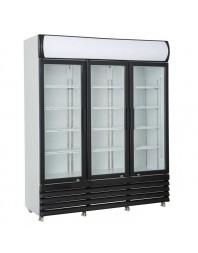 Armoire réfrigérée positive +1/+10°C - 3 portes vitrées battantes - 1065 litres
