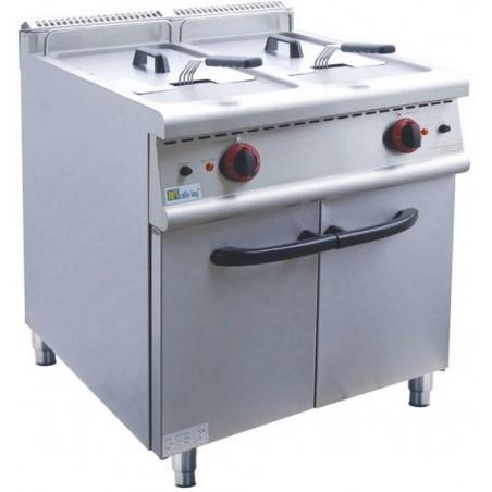Friteuse professionnelle AFI sur coffre 2 bacs 2 x 20 litres électrique