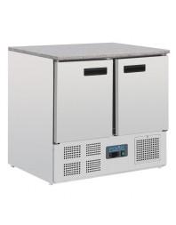 Table réfrigérée abvec plan granit 2 portes 240L Polar Série G