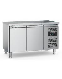 Table réfrigérée centrale positive - 2 portes