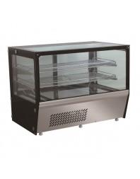 Vitrine réfrigérée 4 faces vitrées- 159 litres -