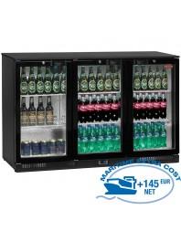 Refroidisseur de bouteilles ventilé, Back Bar 3 portes battantes