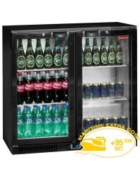 Refroidisseur de bouteilles ventilé, Back Bar 2 portes battantes