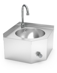 Lave mains inox mural d'angle