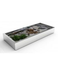 Bac à glace pilée inox poissonnerie - 4/1 GN - 1362 x 590 x 170 mm