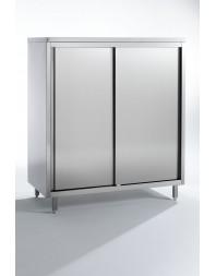 Armoire de rangement - 2 portes coulissantes - 4 niveaux - LARG 2000 - PROF.600