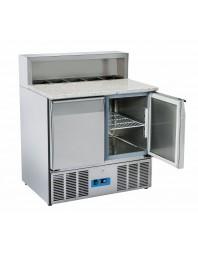 Table réfrigérée à pizzas - 2 portes - Capacité 5 GN 1/6 - Virtus