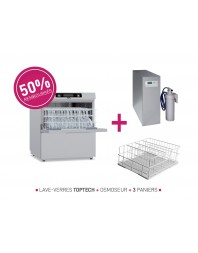 PACK STOP ESSUYAGE - Lave-verres 500 X 500 avec osmoseur - TOPTECH520 - COLGED