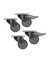 Kit roues avec freins (2+3) pour armoires et tables réfrigérés/freezer