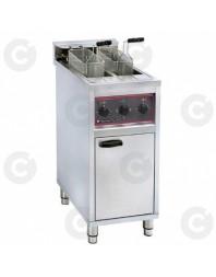 Friteuse professionnelle électrique sur coffre avec vidange - 2 x 10 litres
