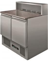 Table réfrigérée à pizzas - 2 portes - Capacité 5 GN 1/6 - L2G