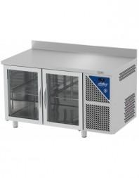 Table réfrigérée vitrée positive 0/+10°C - 230 L - 2 portes - Prof. 600 - 430 x 325 - Dalmec