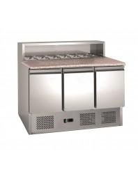Table réfrigérée à pizzas - 3 portes - Capacité 7 GN 1/6 - AFI