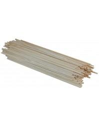 """Lot de 1200 bâtonnets en bois pour gaufres type - """"épi sur bâtonnet"""" - H 380 mm"""