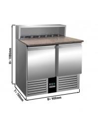 Saladette - 2 portes - Capacité 5 GN 1/6 - Premium