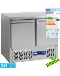 Table frigorifique 2 portes GN 1/1, 240 Lit