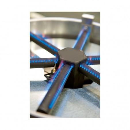 Crêpière professionnelle gaz Krampouz double diamètre 40 cm ref CGCFI4 Gamme Confort - châssis carré