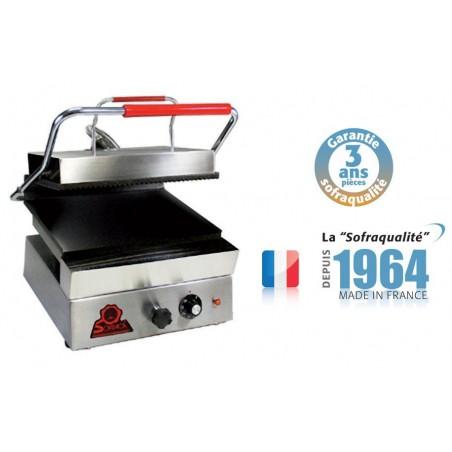 Infra grills - Spécial grillades 400 V plaque inférieure lisse et supérieure rainurée