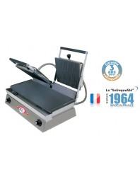 Infra grills duo - Spécial grillades 400 V plaques inférieures lisses et supérieures rainurée