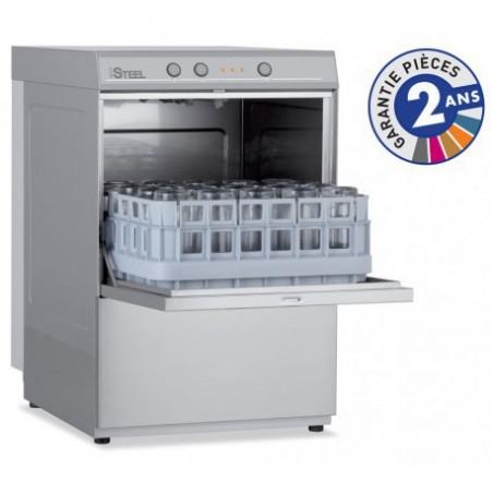 Lave-verres professionnel COLGED de la gamme STEELTECH modèle STEEL340 sans adoucisseur