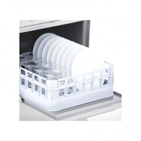 Lave-verres professionnel COLGED de la gamme STEELTECH modèle STEEL340A avec adoucisseur
