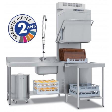 Lave-vaisselle professionnel à capot de la gamme PROTECH modèle PRO831