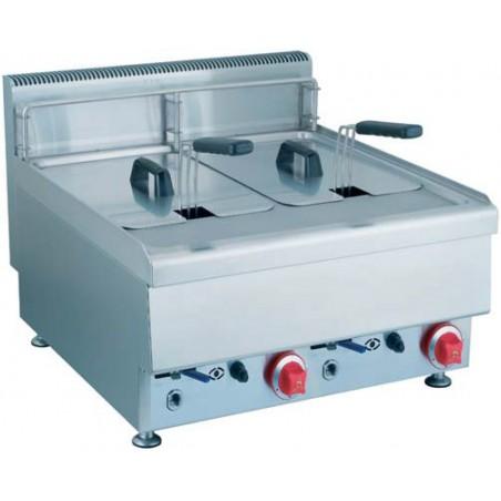 Friteuse professionnelle AFI électrique double 2 x 12.5 L modèle JUS-TEF-2 Gamme Cuisson Top 650