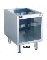 Support avec pieds modèle JUS-400 qui s'adaptera aux cuiseurs à pâtes gaz ou électrique de dimensions 40