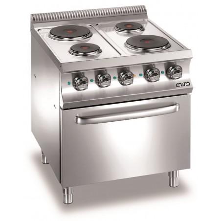 Cuisinière 4 plaques électriques rondes-sur four électrique - MBM