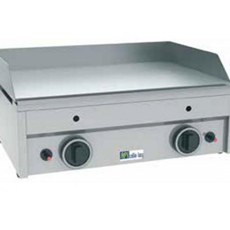 Plaque à snacker professionnelle gaz lisses avec 2 zones de cuisson modèle GR600A