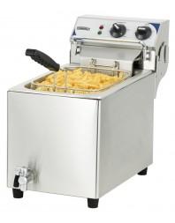 Friteuse professionnelle électrique avec vanne de vidange 10 litres haut rendement triphasée