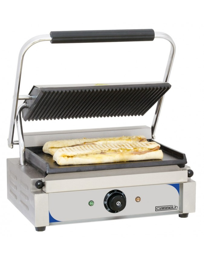 grill panini professionnel casselin plaques rainur e lisse chr master. Black Bedroom Furniture Sets. Home Design Ideas