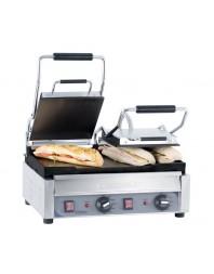 Grill panini professionnel Casselin double premium plaques lisse-lisse