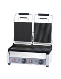 Grill panini professionnel Casselin double premium plaques mixte
