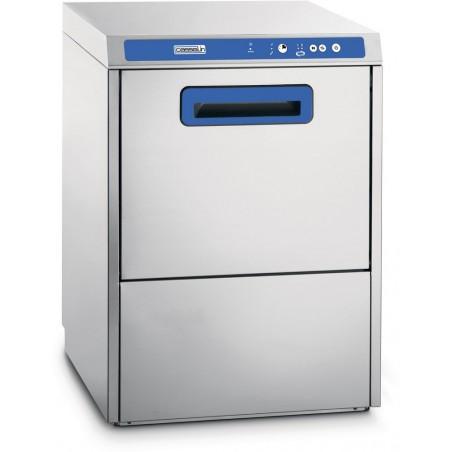 Lave-vaisselle professionnel à double paroi avec adoucisseur et pompe de vidange intégrés