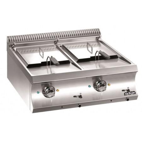 Friteuse professionnelle 2 bacs 2 x 12 litres électrique à poser - MBM