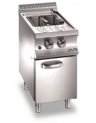 Cuiseur à pâtes professionnel gaz 26 litres sur coffre - 2 paniers - MBM