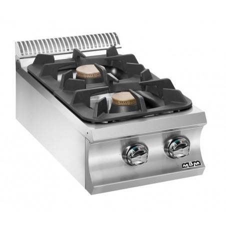 Réchaud 2 feux vifs - gaz - brûleurs 2 x 5.5 kW - Gamme DOMINA 980 -MBM