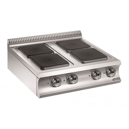 Réchaud à poser - 4 plaques électriques carrées 3 x 3 kW + 1 x 4 kW- Gamme DOMINA 980 -MBM