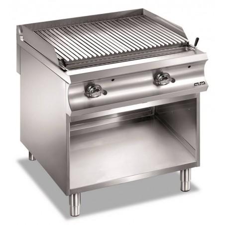 Grill charcoal double grille gaz sur placard ouvert, grille viande - MBM- DOMINA 980