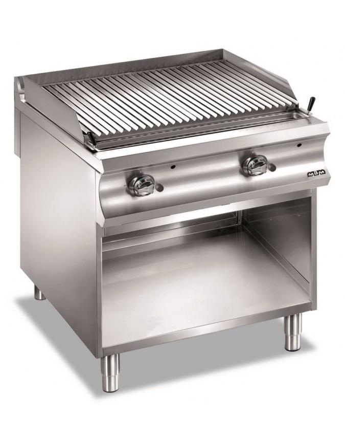 grill charcoal double grille gaz sur placard ouvert grille viande mbm domina 980 chr master. Black Bedroom Furniture Sets. Home Design Ideas